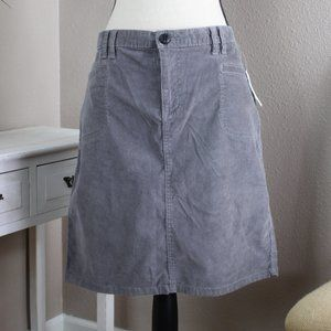 ON Gray Corduroy Skirt NWT